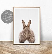 rabbit poster nursery print bunny rabbit poster printable nursery decor