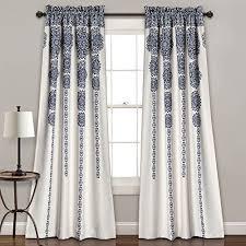 Navy Curtain Navy Window Curtains La Boheme