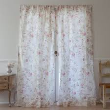 Shabby Chic Window Treatment Ideas by Silk Floral Curtain From Rachel Ashwell Shabby Chic Couture