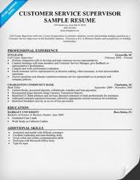 Supervisor Sample Resume by Customer Service Supervisor Resume Sample Resumecompanion Com