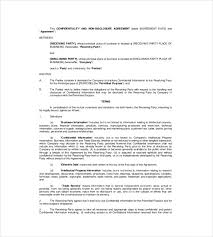 non disclosure agreement template u2013 14 free word excel pdf