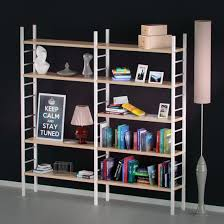 Bookcase With Books Bookshelf With Books And Decoration Objects 3d Model In Living