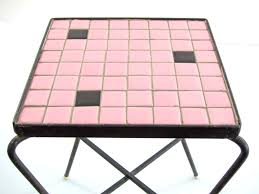 50s Design 50s Mosaic Side Table Vintage Design