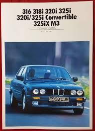 bmw e30 colours bmw 3 series colour upholstery sales brochure for e30 1988 316 318