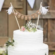 Bunting Flags Wedding Wooden Mr And Mrs Wedding Cake Bunting Decoration By Ginger Ray