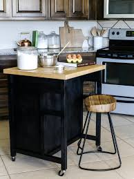 How To Install Kitchen Island Cabinets by How To Build A Diy Kitchen Island On Wheels Hgtv