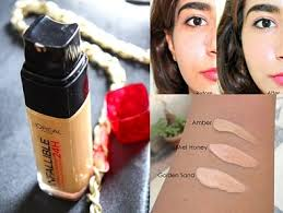 l oreal 24h infallible liquid foundation review before after swatches