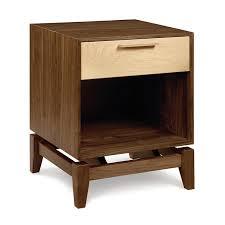 modern soho nightstand walnut cherry maple wood custom