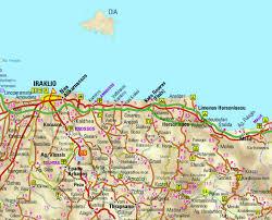 Crete Map Artemis Aparments Studios Rooms Gouves Crete Greece U003e Location