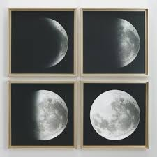 moon phases by gail peck with gold frames set of 4 world market