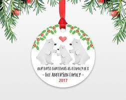 polar bear ornament etsy