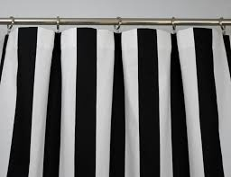 Black And White Stripe Curtains Black White Modern Vertical Stripe Curtains Rod Pocket 84