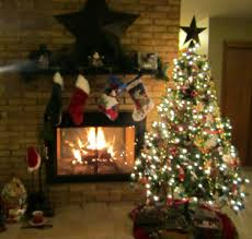 christmas tree scene christmas lights decoration