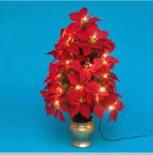 poinsettia tree pre lit artificial poinsettia tree 48