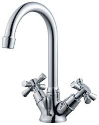 plumbsure crystal 2 lever basin mixer tap departments diy at b u0026q