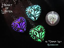 glow in the necklaces glowies glow jewelry heart of winter frozen forest glow in the