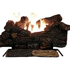 Propane Fireplace Logs by Amazon Com Sure Heat Riverside Oak Vent Free Dual Burner Log Set