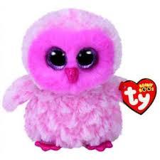 ty beanie boos regular twiggy pink owl brands toys pty