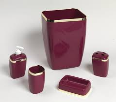 carnation home fashions inc 5 piece plastic bath accessory sets