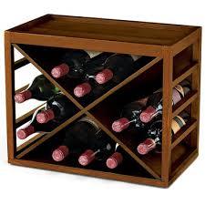 cross 18 bottle tabletop wine rack u0026 reviews birch lane