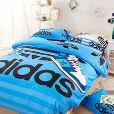 Girls Queen Size Bedding by Queen Size Blue Adidas Duvet Cover Bedding Set Boys Girls In