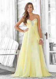 flowy yellow strapless dress blush prom 9388 2013 prom