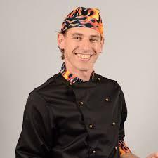 bandana cuisine bandana de cuisine en tissu motif flamme