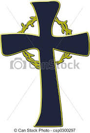 crown cross crown of thorns and cross icon stock illustrations