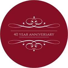 designs anniversary party invitations in conjunction with 40