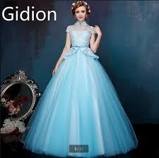 blue wedding dress designer designer gown light blue high neck modest wedding dresses