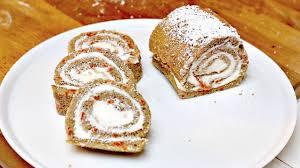 easy carrot roll cake recipe youtube