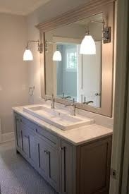 Trough Bathroom Sink With Two Faucets by This Kohler Brockway Sink Can Accommodate Three Taps Perfect For