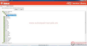 auto repair manuals bobcat service library 2014 service operator