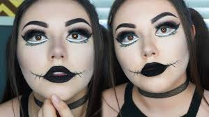 halloween makeup tutorial gothic doll youtube