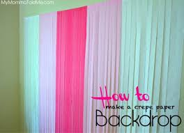 diy crepe paper photo backdrop hello nutritarian