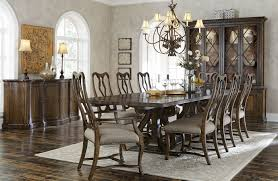 Trestle Dining Room Table by A R T Furniture Firenze Ii Dark Oak Nine Piece Trestle Dining