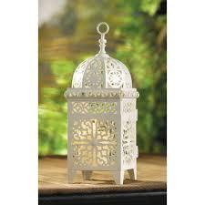 amazon com 25 white moroccan wedding candle lantern centerpieces