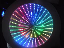 4 led lights mirror circle chromation systems 18 round infinity mirror kit