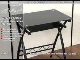 Petit Bureau Pour Ordinateur Bureaudesign Win Nc7054 Bureau Dordinateur En Verre Et Mtal Noir Gd 3060 Intérieur