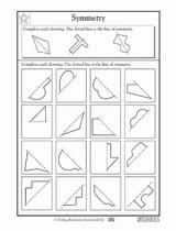 3rd grade 4th grade 5th grade math worksheets lines of symmetry