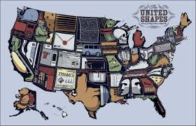 A Map Of Florida by Map Of The United States With Things They Are Shaped Like 2531 X