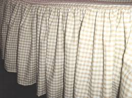 White Bed Skirt Queen Queen Tan Beige And White Gingham Check Bedskirt Dustruffle