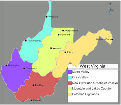 Colleges In Virginia Map by West Virginia Regions Map U2022 Mapsof Net