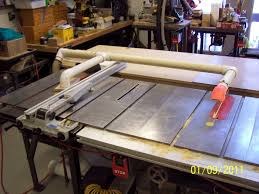 table saw vacuum dust collector fine dust collection on a table saw woodworking talk woodworkers