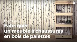 meuble fait en palette fabriquer un meuble à chaussures en bois de palettes recycler