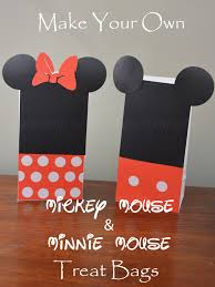 mickey mouse gift bags make your own mickey mouse minnie mouse treat bags disneyside