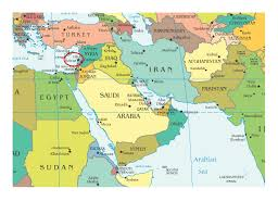 A Map Of The Middle East by Map Of The World Lebanon
