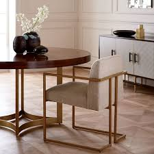 Round Dining Table With Armchairs Uptown Dining Armchair West Elm