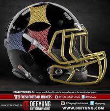 new design helmet for cricket graphic artists take shots at new steelers helmet designs steelers
