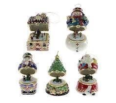 mr set of 5 musical box ornaments series 1 qvc uk